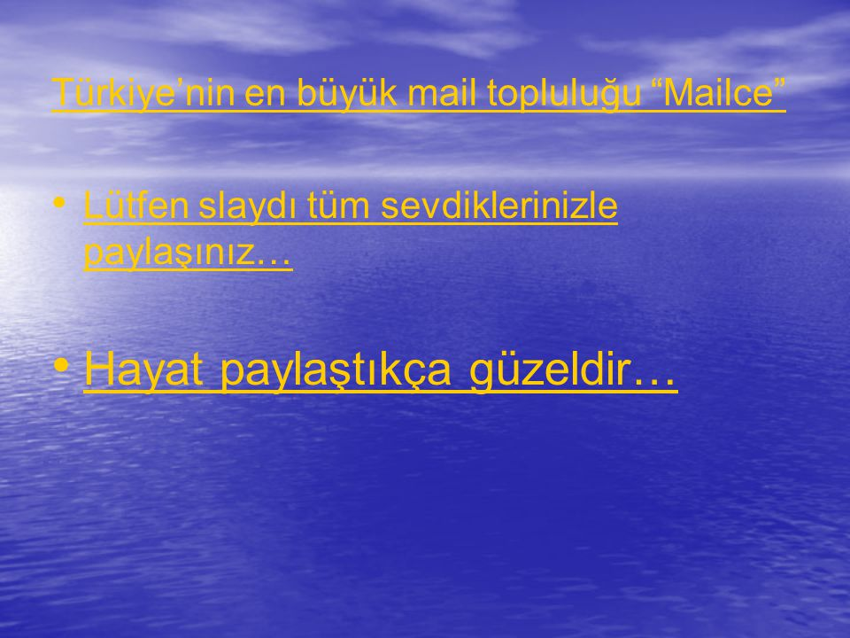 Türkiye'nin en büyük mail topluluğu Mailce