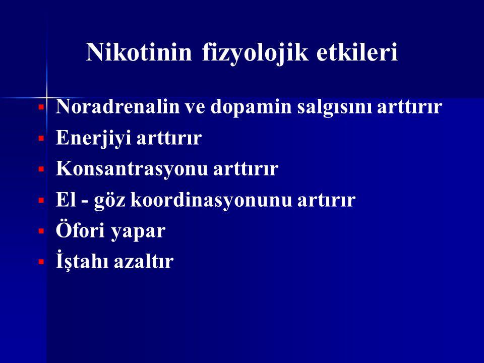 Nikotinin fizyolojik etkileri