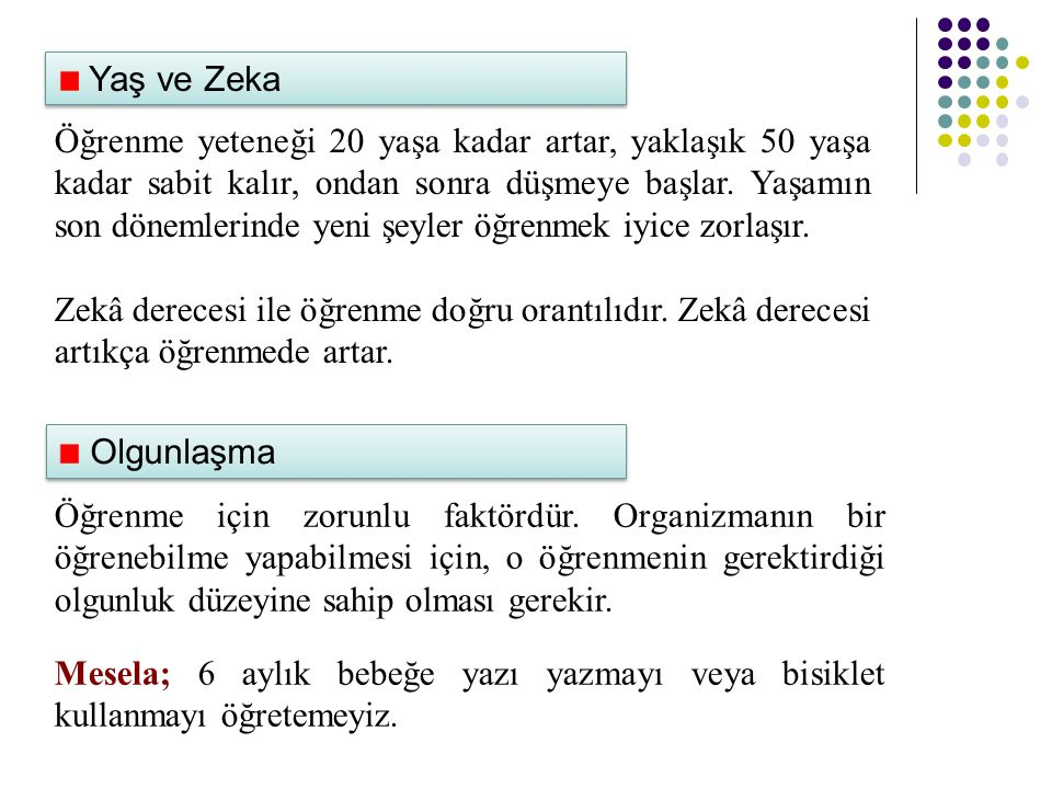 Yaş ve Zeka