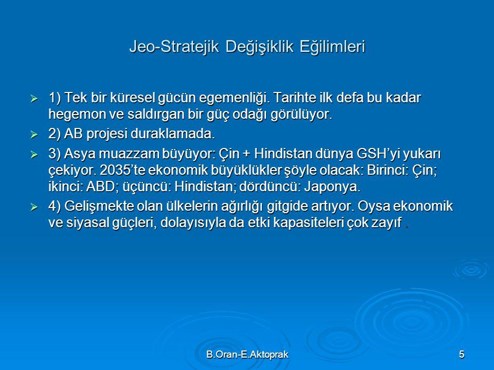 Jeo-Stratejik Değişiklik Eğilimleri