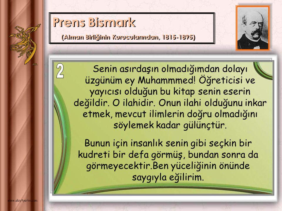 Prens Bismark (Alman Birliğinin Kurucularından, 1815-1895) 2.