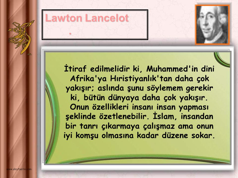 Lawton Lancelot .