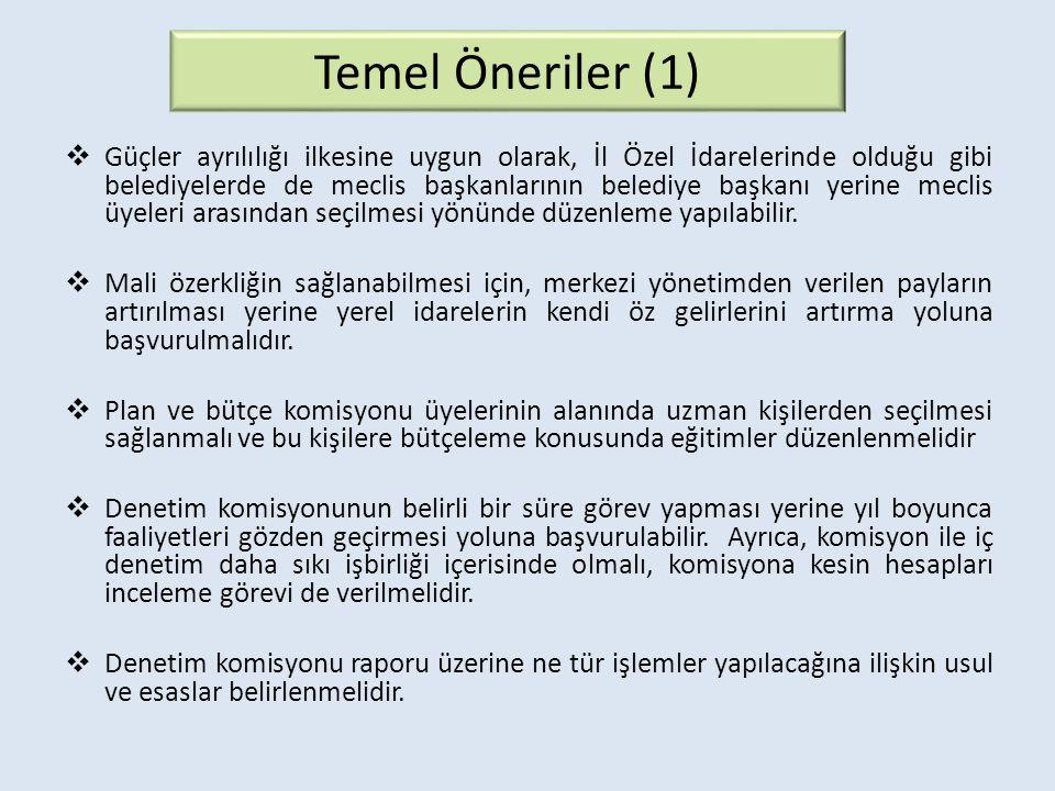 Temel Öneriler (1)
