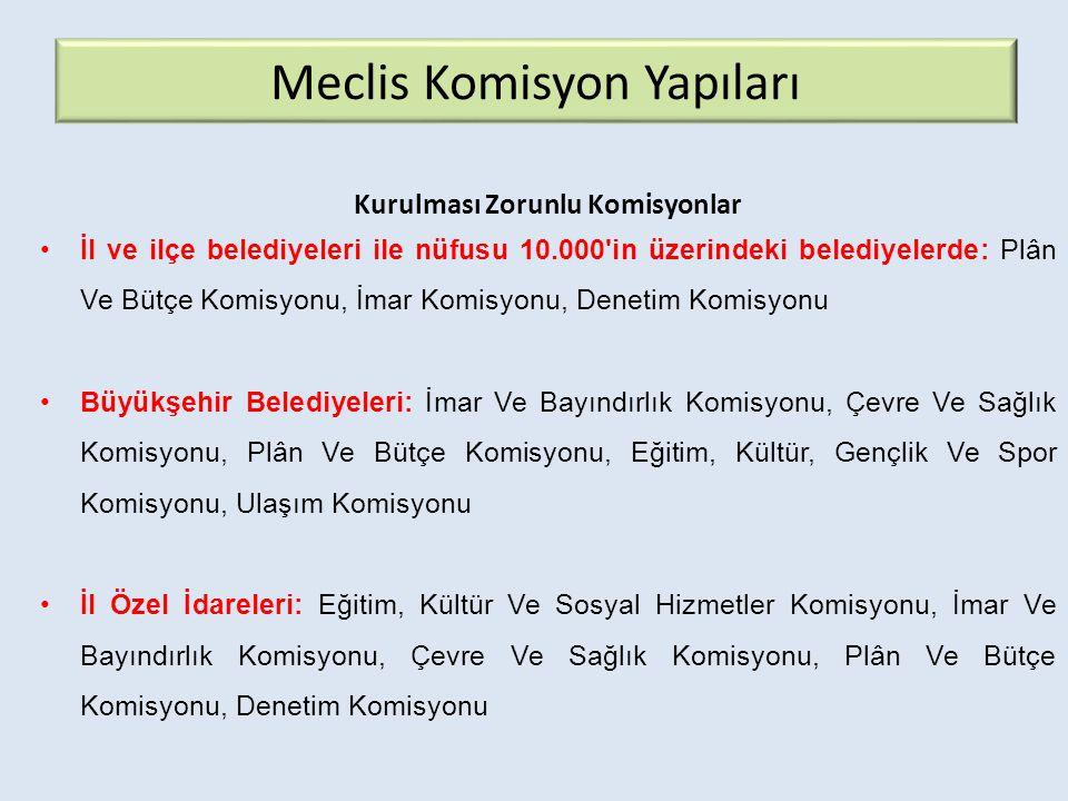 Meclis Komisyon Yapıları