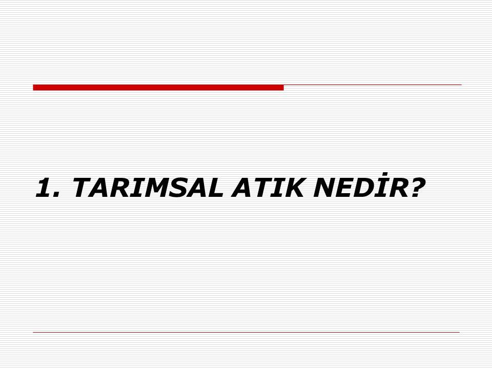 1. TARIMSAL ATIK NEDİR