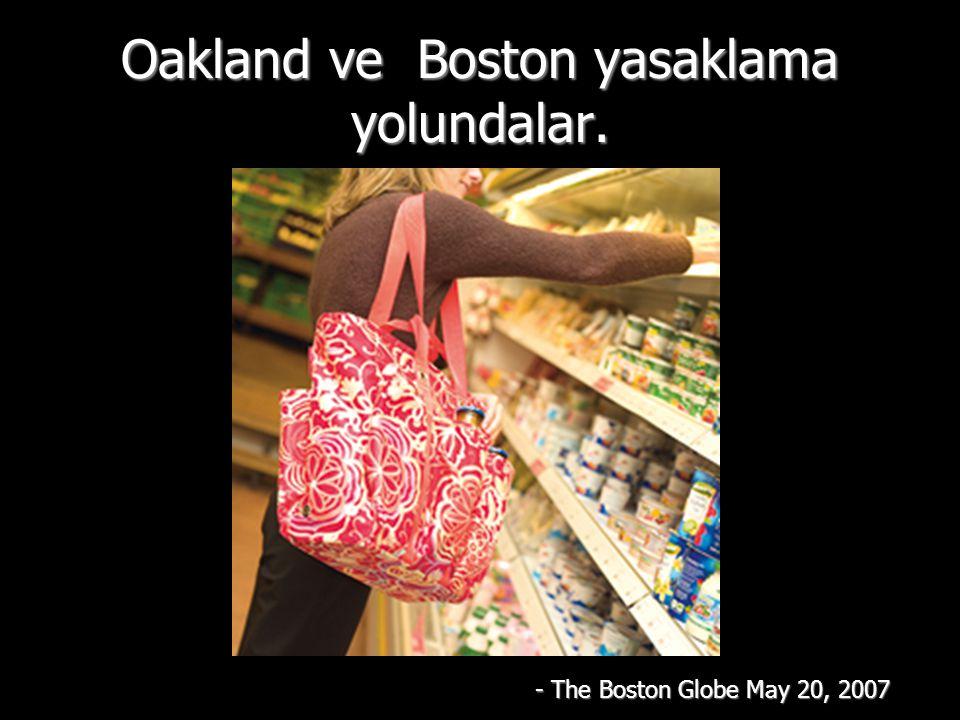 Oakland ve Boston yasaklama yolundalar.
