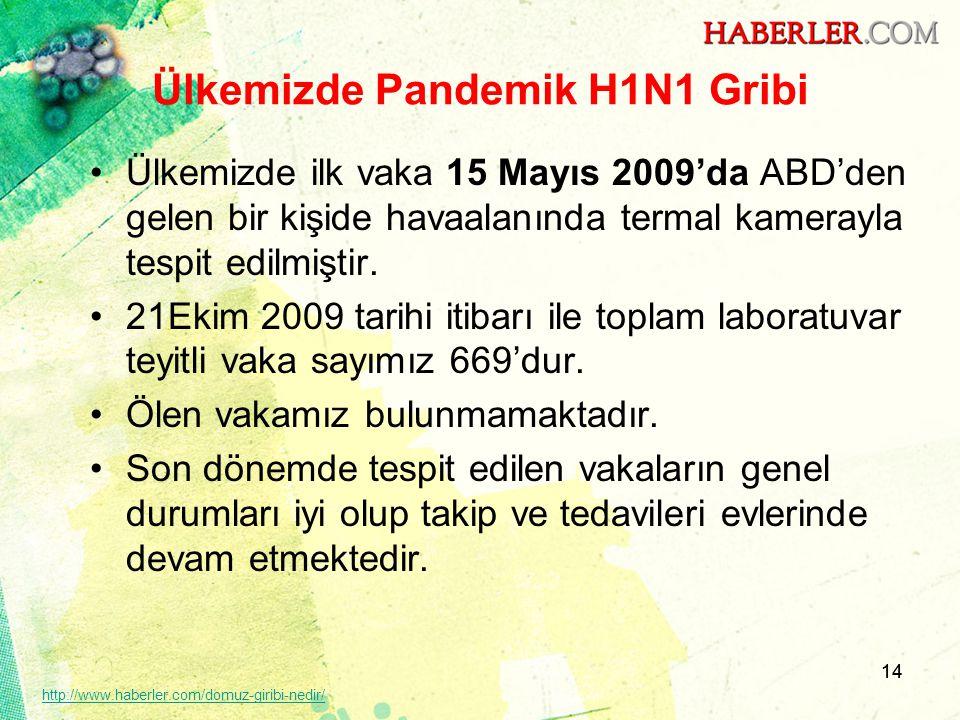 Ülkemizde Pandemik H1N1 Gribi
