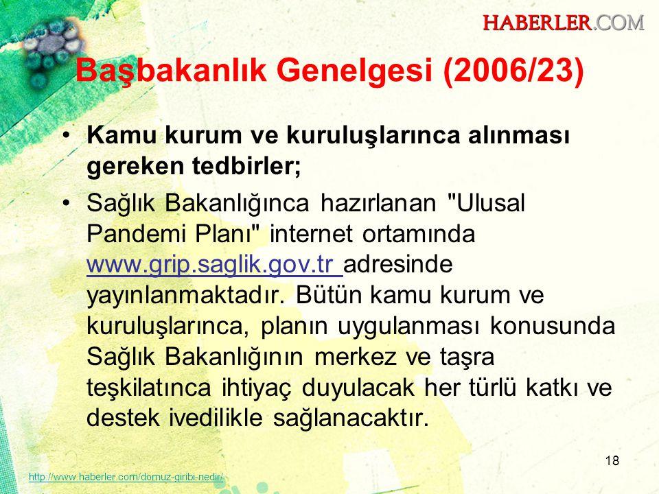 Başbakanlık Genelgesi (2006/23)