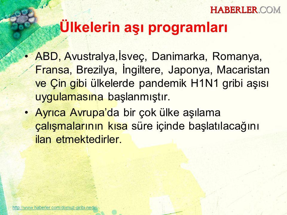 Ülkelerin aşı programları