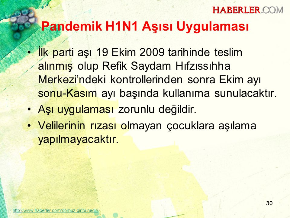 Pandemik H1N1 Aşısı Uygulaması