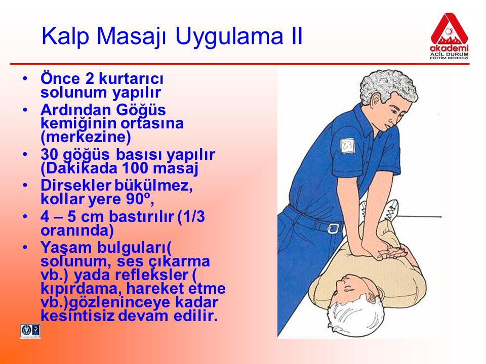 Kalp Masajı Uygulama II