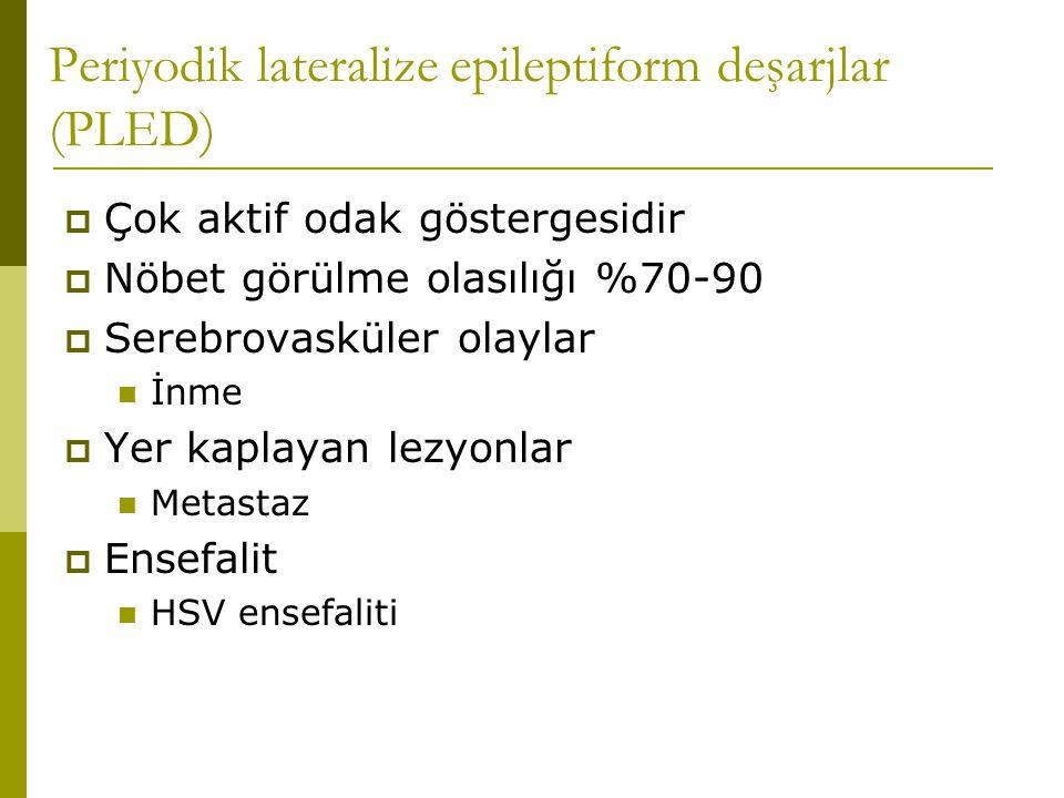 Periyodik lateralize epileptiform deşarjlar (PLED)