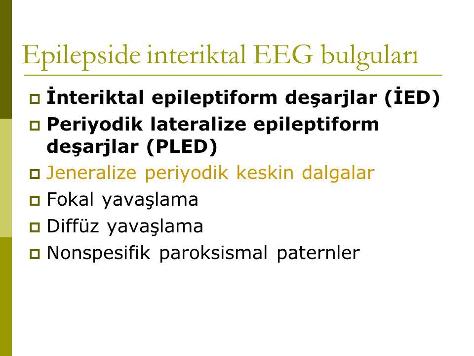 Epilepside interiktal EEG bulguları