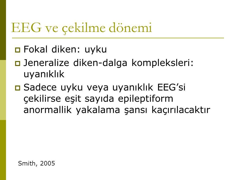 EEG ve çekilme dönemi Fokal diken: uyku