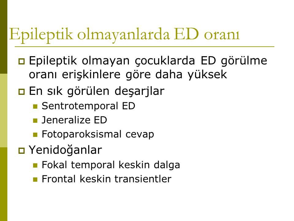 Epileptik olmayanlarda ED oranı