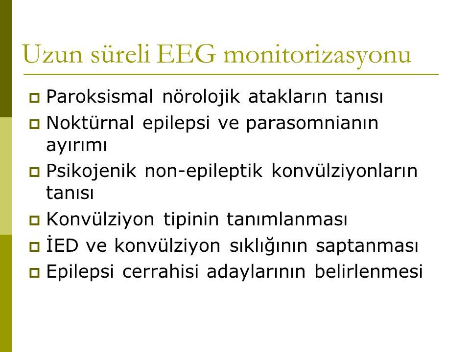 Uzun süreli EEG monitorizasyonu