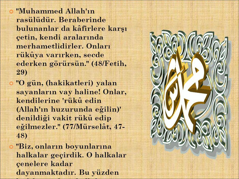 Muhammed Allah ın rasülüdür