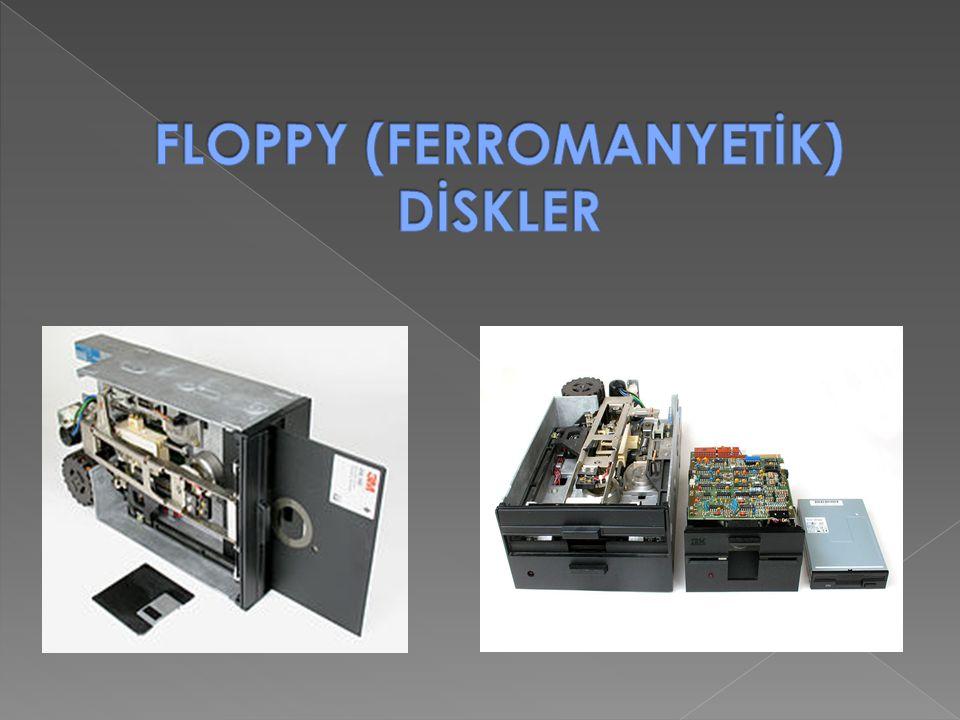 FLOPPY (FERROMANYETİK) DİSKLER