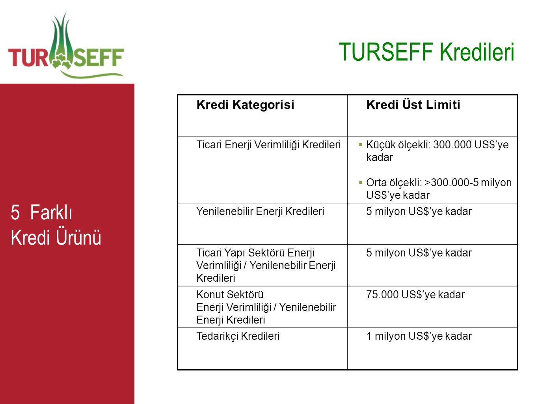 TURSEFF Kredileri 5 Farklı Kredi Ürünü Kredi Kategorisi