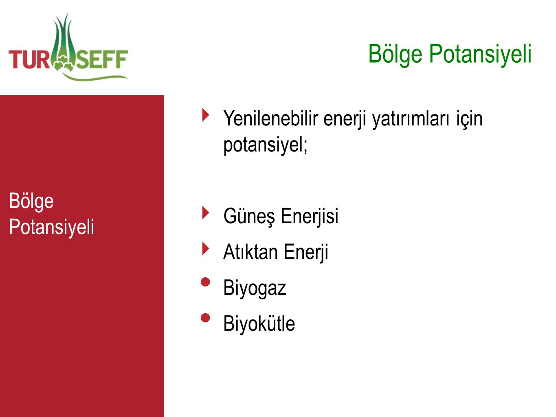 Bölge Potansiyeli C Yenilenebilir enerji yatırımları için potansiyel;