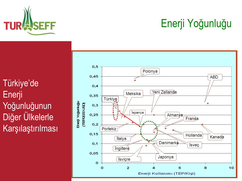 Enerji Yoğunluğu Türkiye. Meksika. Polonya. Portekiz. İtalya. İspanya. İsviçre. Japonya. İngiltere.