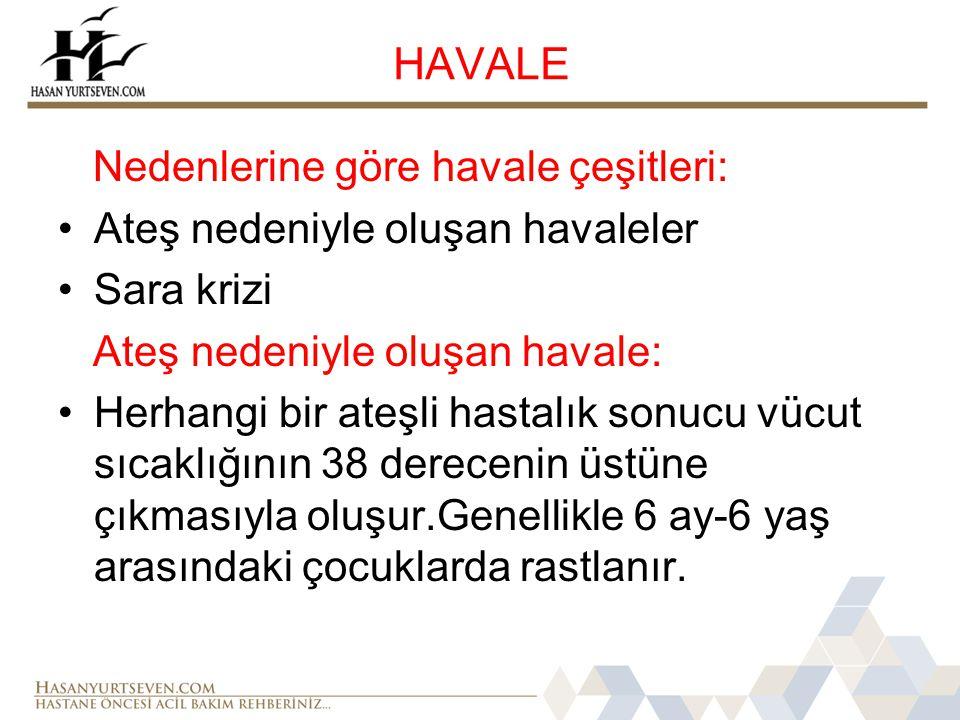HAVALE Nedenlerine göre havale çeşitleri: