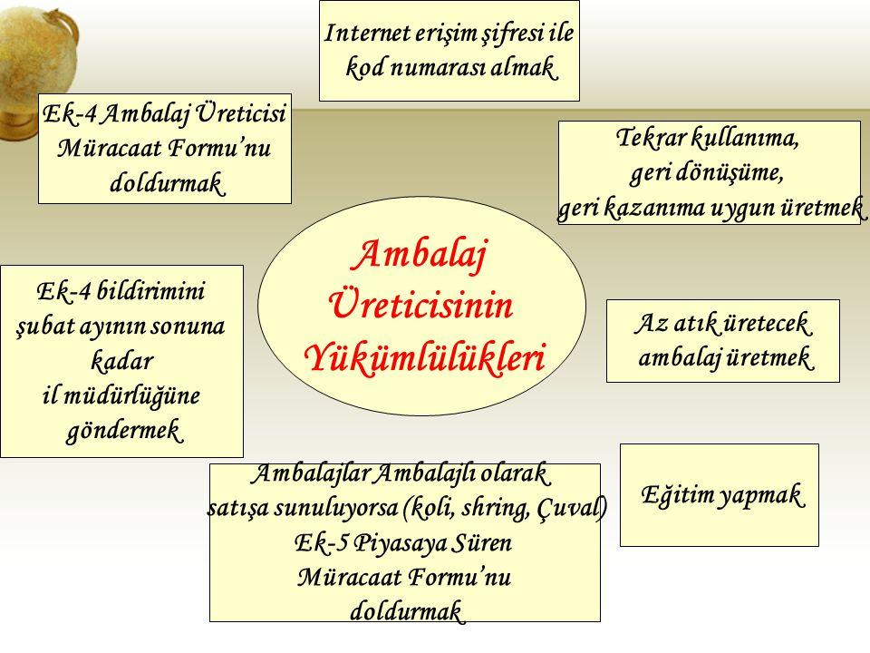 Ambalaj Üreticisinin Yükümlülükleri