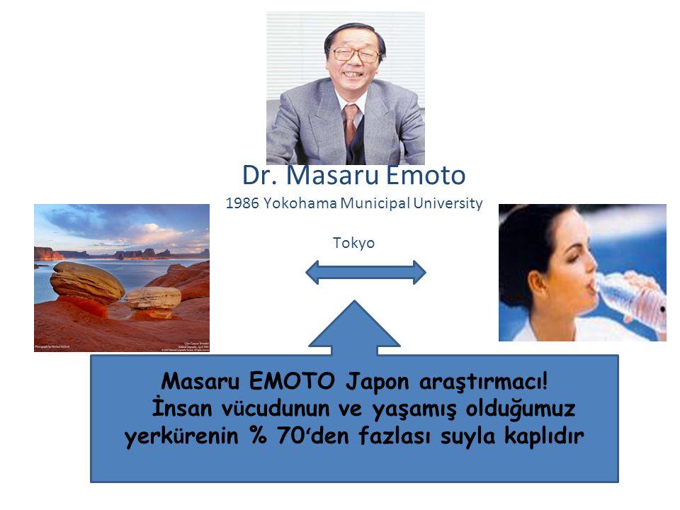 Masaru EMOTO Japon araştırmacı!