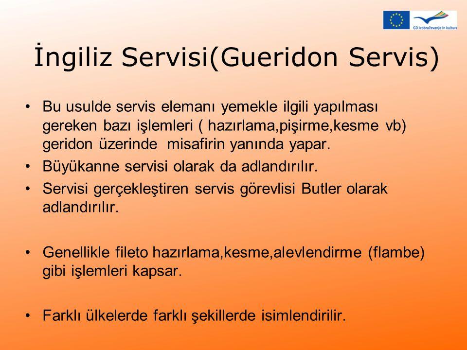 İngiliz Servisi(Gueridon Servis)