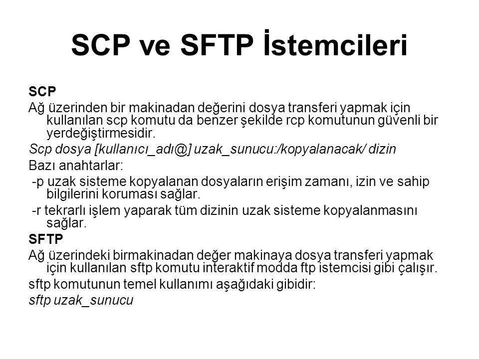SCP ve SFTP İstemcileri