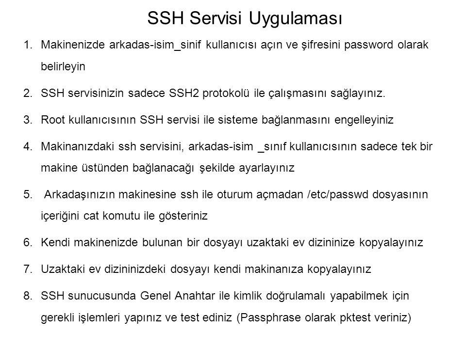 SSH Servisi Uygulaması