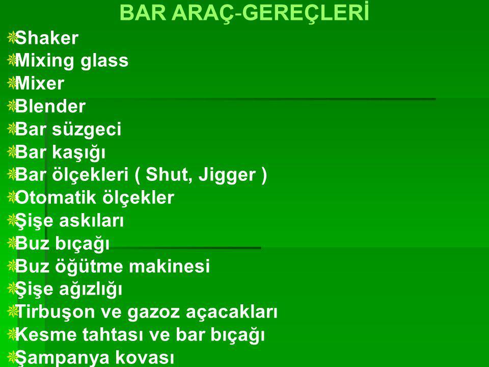 BAR ARAÇ-GEREÇLERİ Shaker Mixing glass Mixer Blender Bar süzgeci