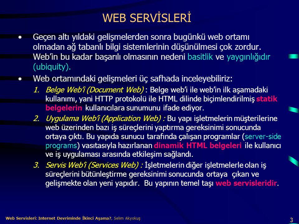 WEB SERVİSLERİ