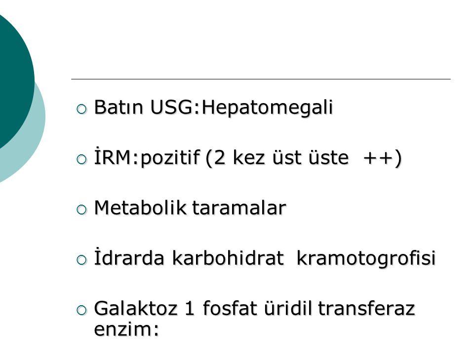 Batın USG:Hepatomegali