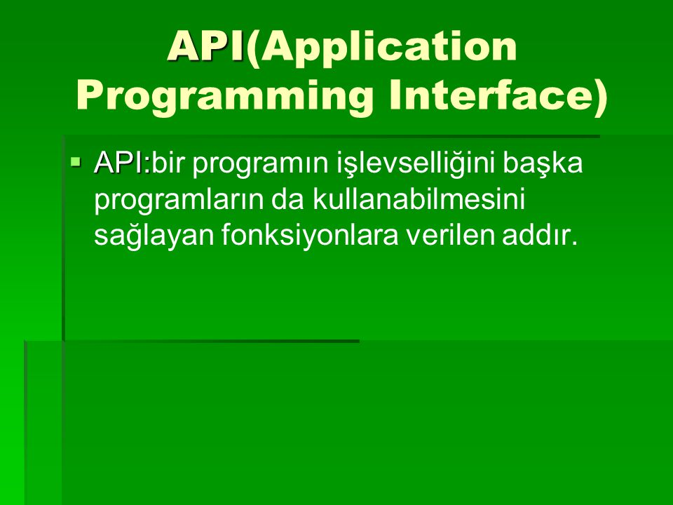 API(Application Programming Interface)