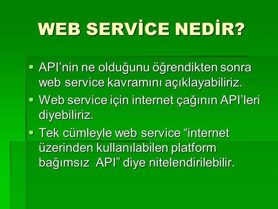 WEB SERVİCE NEDİR API'nin ne olduğunu öğrendikten sonra web service kavramını açıklayabiliriz.