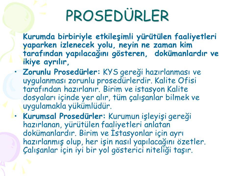 PROSEDÜRLER