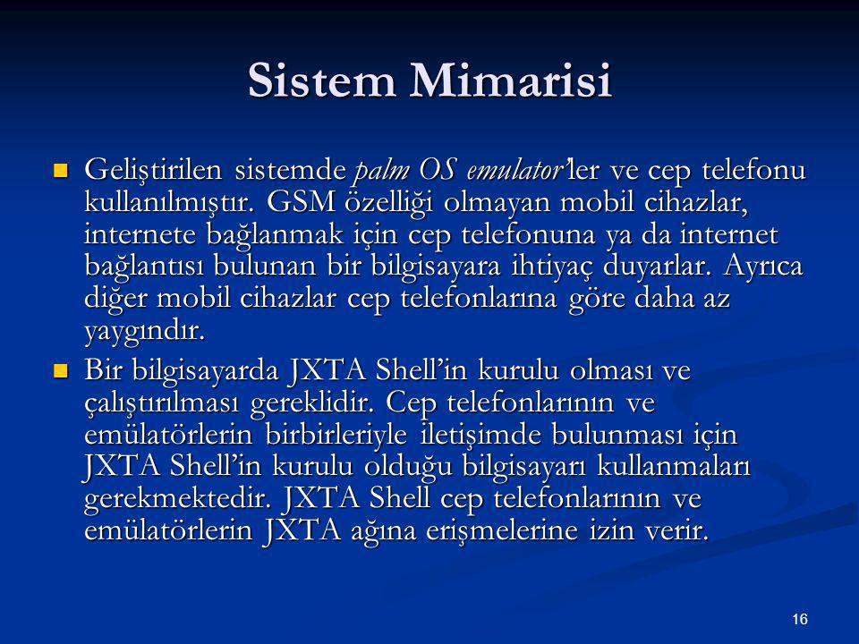 Sistem Mimarisi