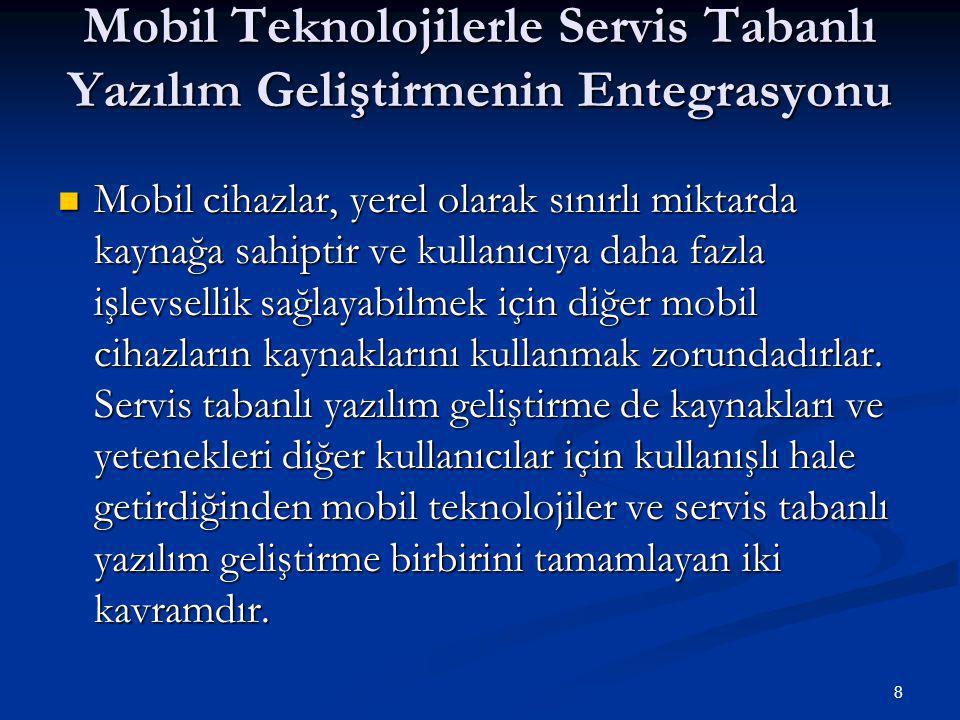 Mobil Teknolojilerle Servis Tabanlı Yazılım Geliştirmenin Entegrasyonu