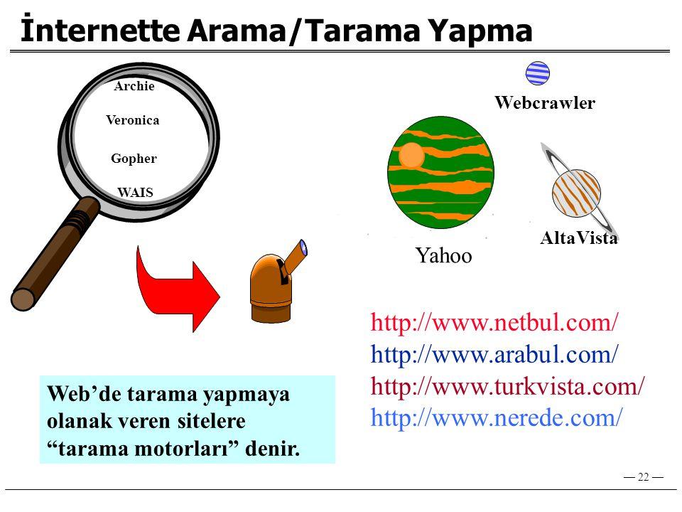 İnternette Arama/Tarama Yapma
