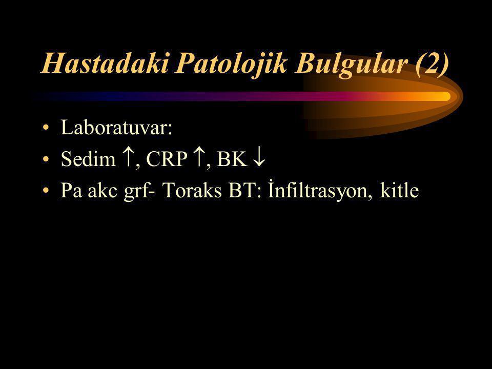 Hastadaki Patolojik Bulgular (2)