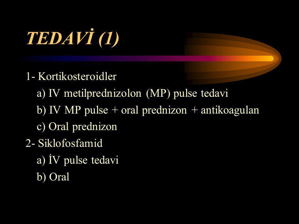 TEDAVİ (1) 1- Kortikosteroidler