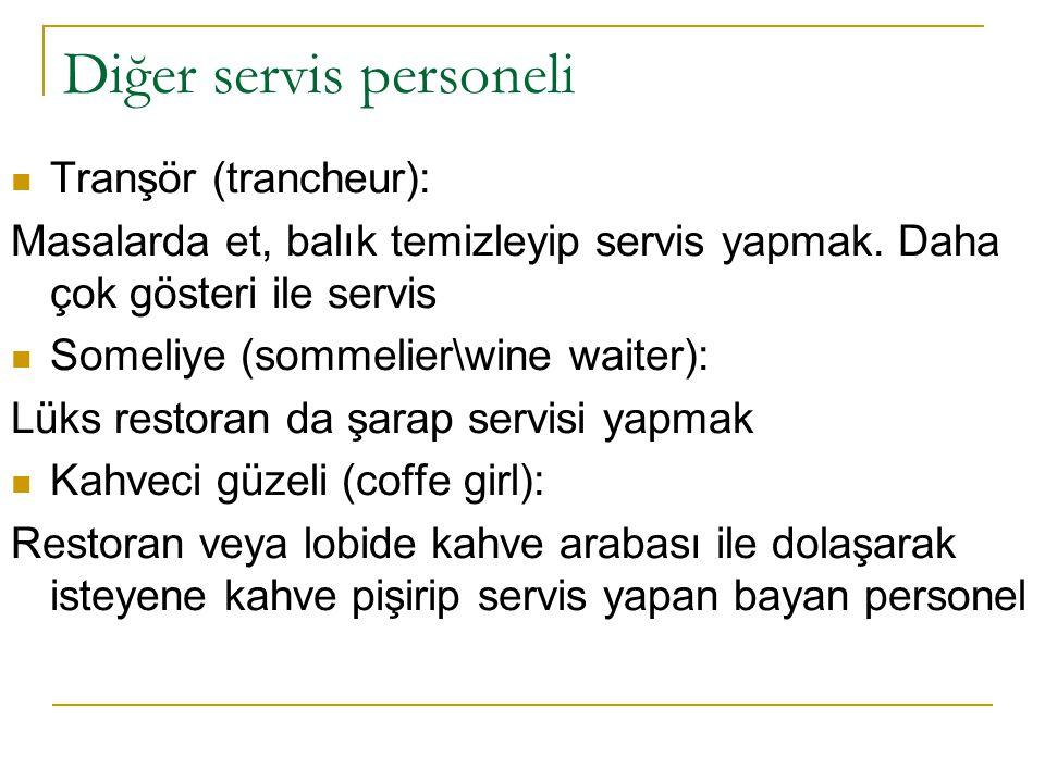 Diğer servis personeli