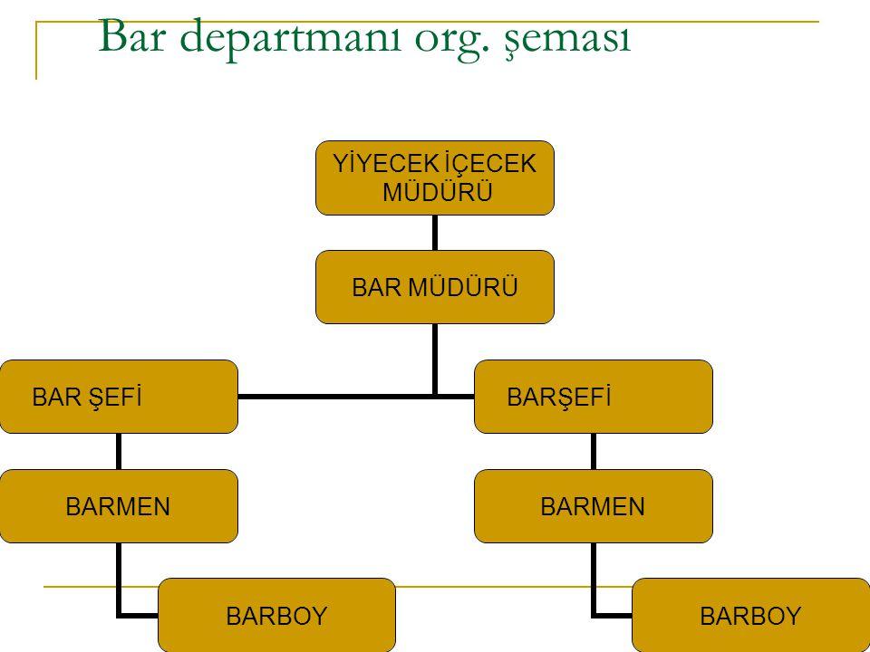Bar departmanı org. şeması