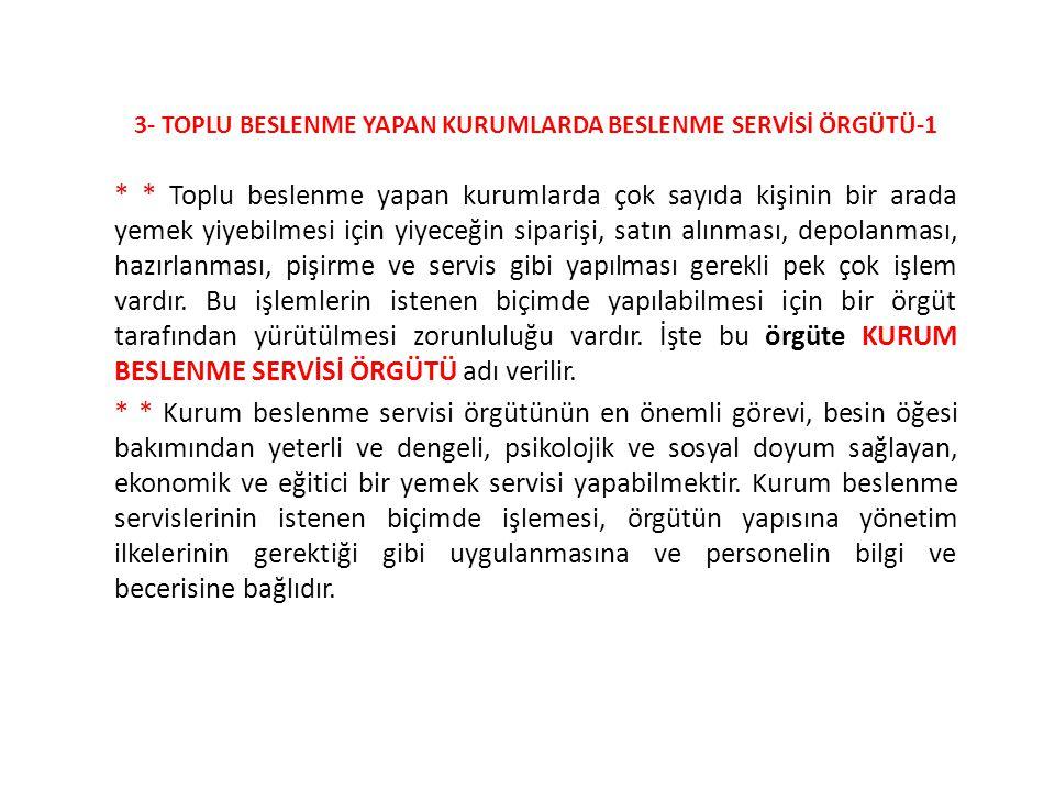 3- TOPLU BESLENME YAPAN KURUMLARDA BESLENME SERVİSİ ÖRGÜTÜ-1