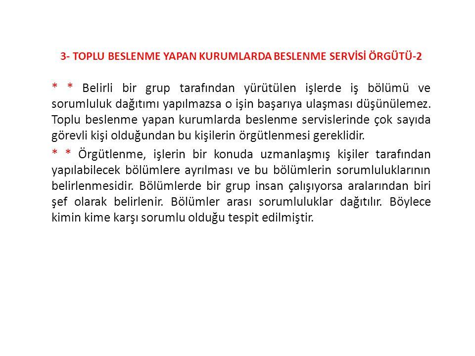 3- TOPLU BESLENME YAPAN KURUMLARDA BESLENME SERVİSİ ÖRGÜTÜ-2