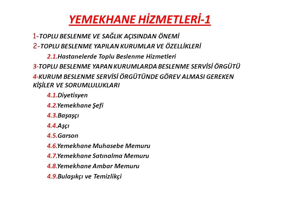 YEMEKHANE HİZMETLERİ-1