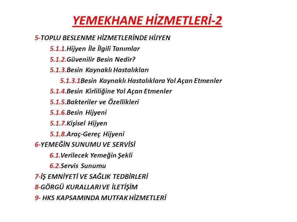 YEMEKHANE HİZMETLERİ-2