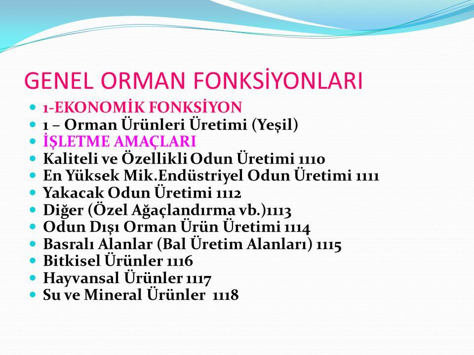 GENEL ORMAN FONKSİYONLARI