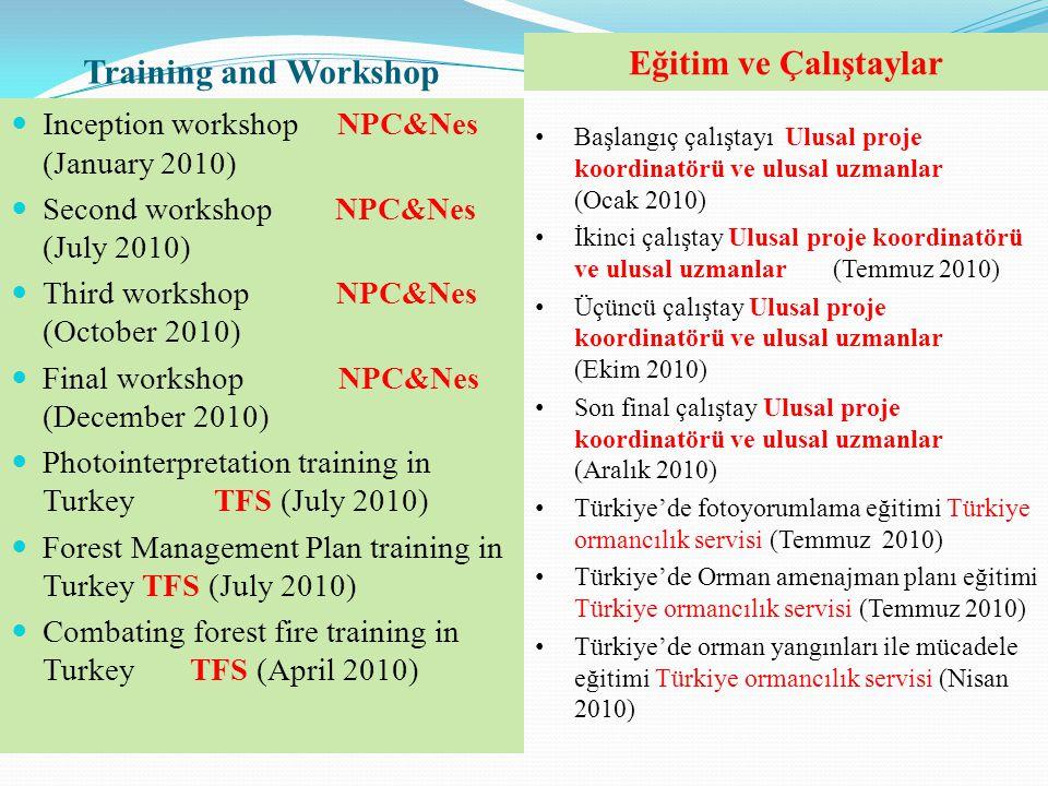 Training and Workshop Eğitim ve Çalıştaylar